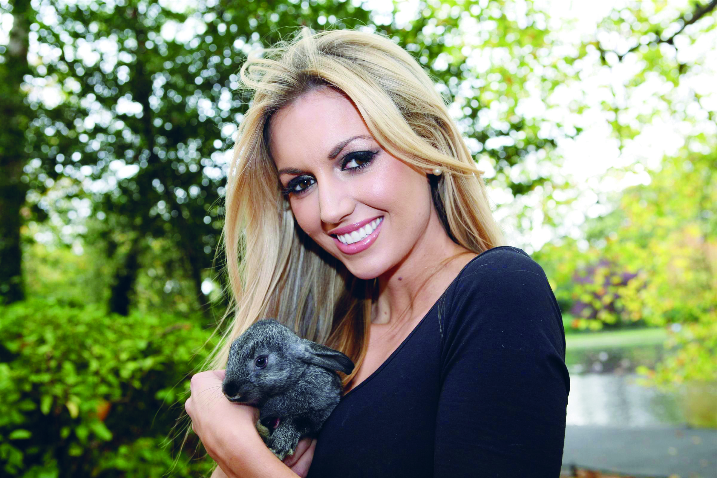 Rosanna Davison supporting the ISPCA during WAW (Custom)