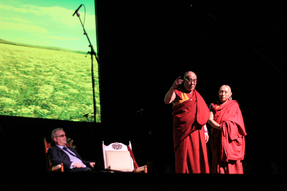 HH Dalai Lama and Richard Moore in Derry - City of Culture 2013 by Patrick Bridgeman © 2013