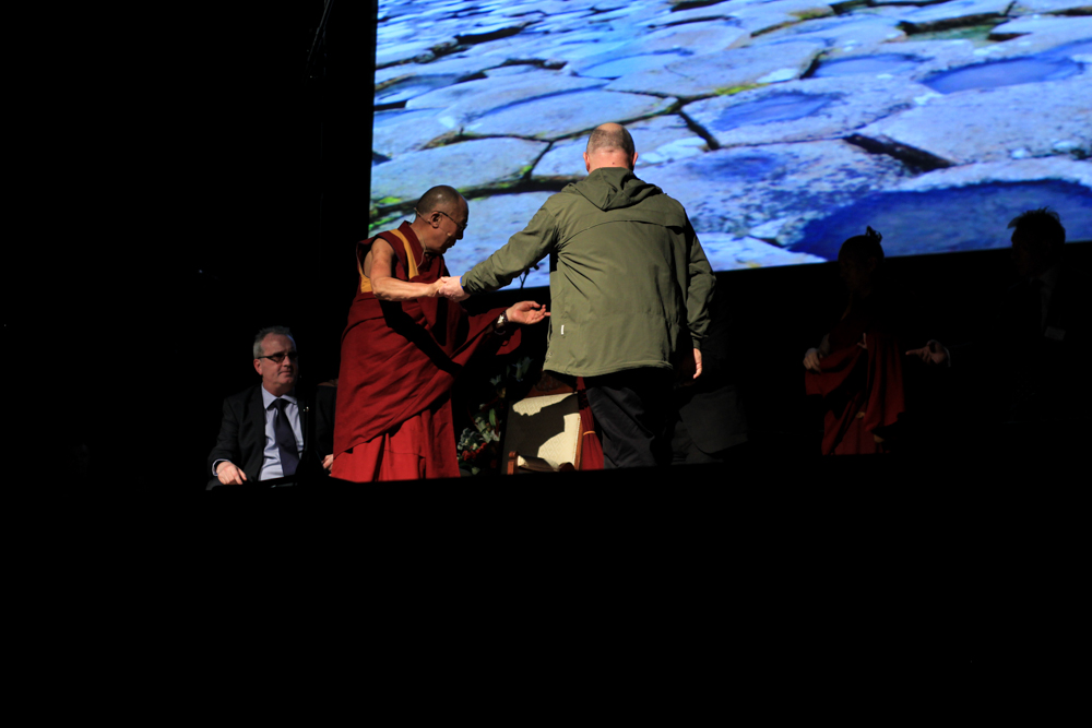 HH Dalai Lama and Christy Moore in Derry - City of Culture 2013 by Patrick Bridgeman © 2013