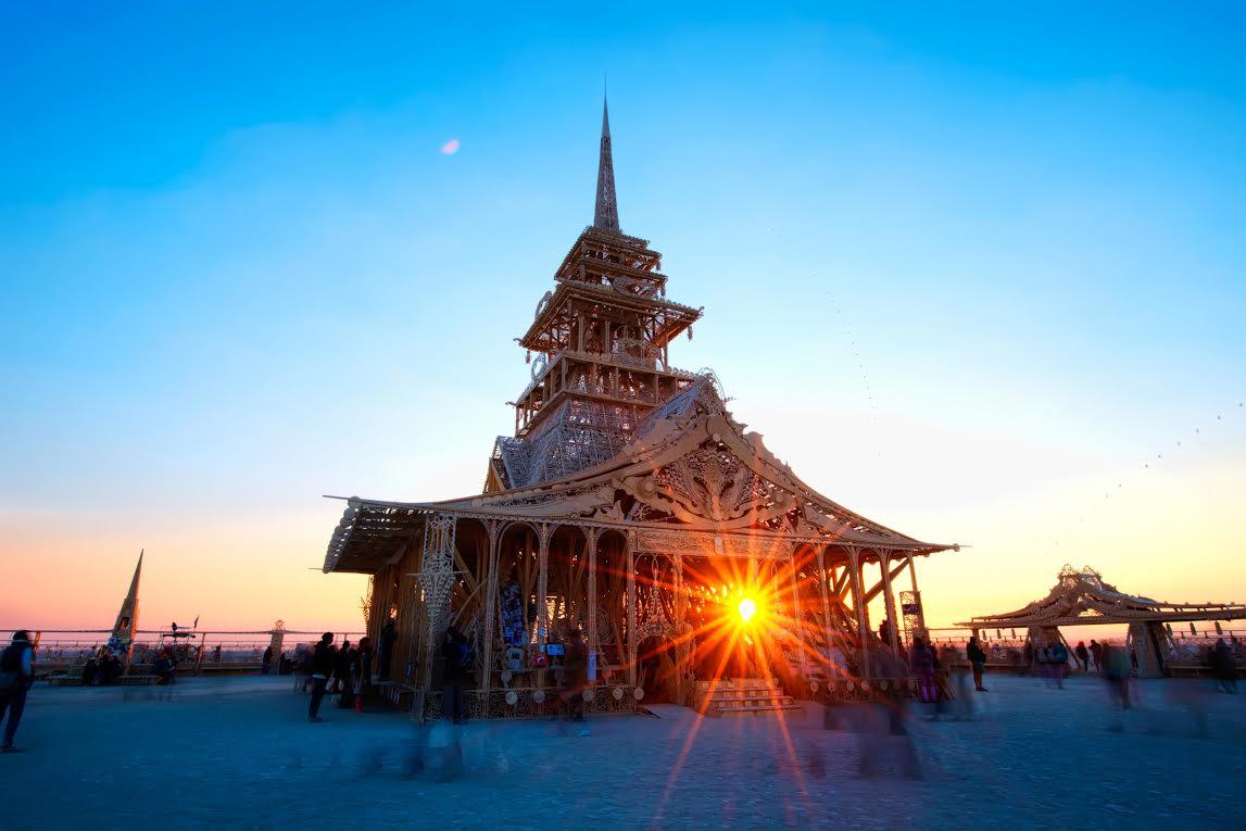 sunrise on temple of juno