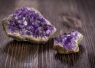 Beautiful amethyst druse close-up