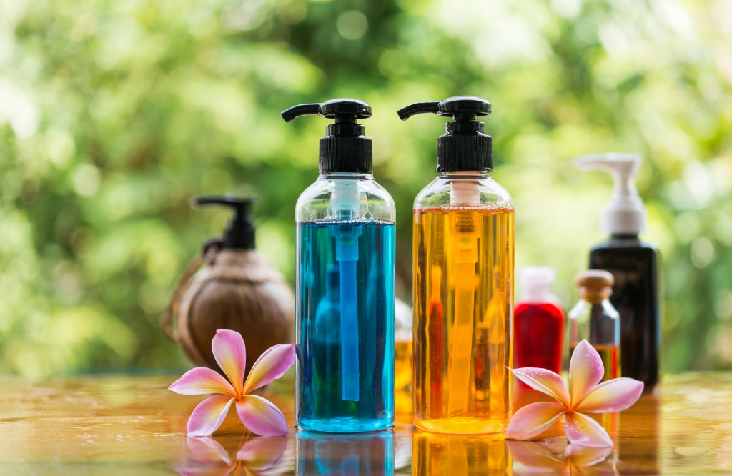 Body care product,shower and shamphoo with plumeria flower