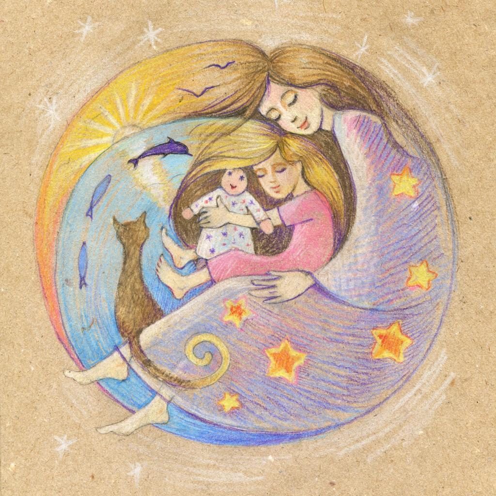 Mother, child, sleep. Motherhood. Happy Mother's Day!