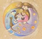 Mother, child, sleep. Motherhood. Happy Mother's Day!