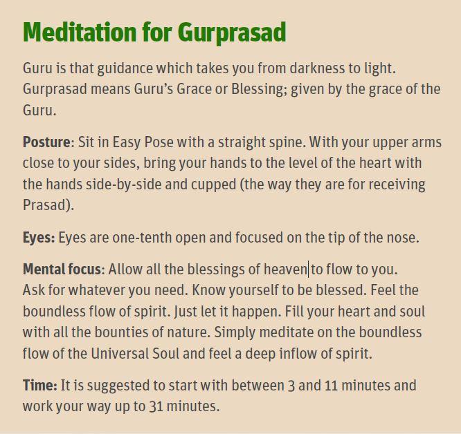 meditation Gurprasad