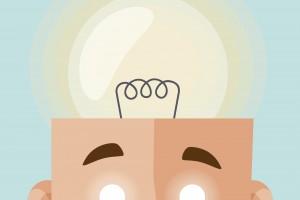 Big head with a light bulb