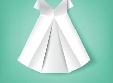 Skirt folded paper